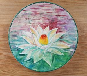 Reno Lotus Flower Plate